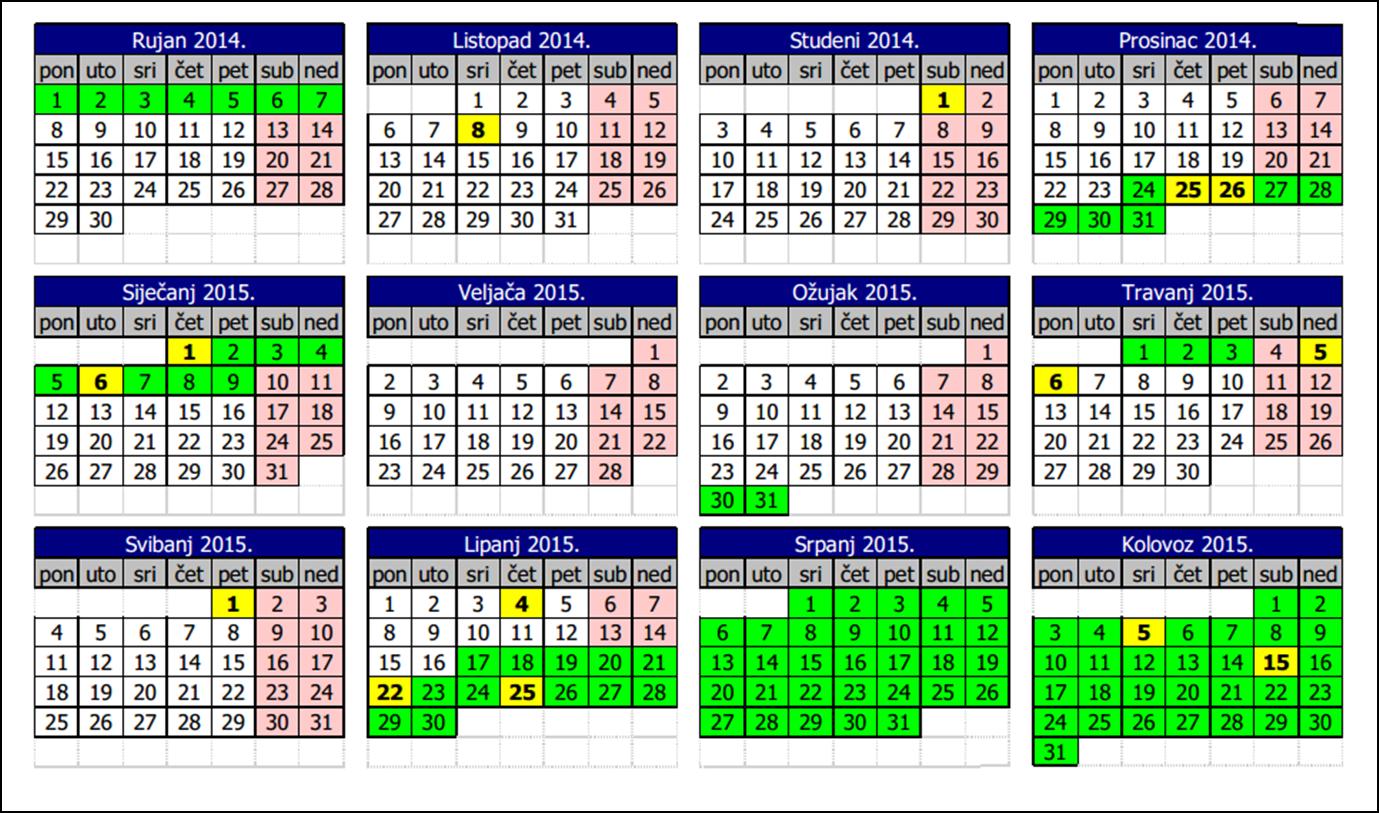 Kalendar 2015 S Praznicima | Search Results | Calendar 2015